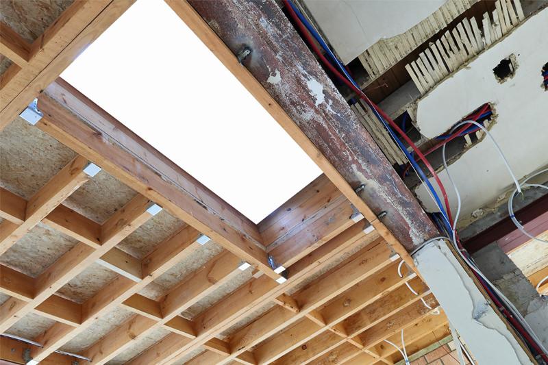 Ristrutturazione tetto soffitto prima